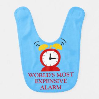 Hilariously Funny Alarm Clock Baby Bibs