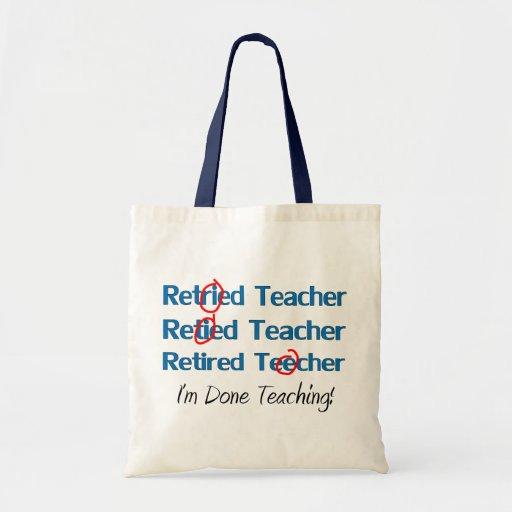Hilarous Retired Teacher Gifts Canvas Bag