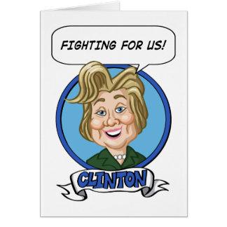 Hilary Clinton Election 2016 Card
