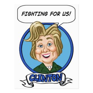 Hilary Clinton Election 2016 Postcard