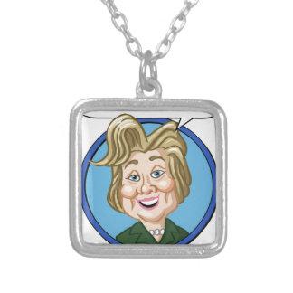 Hilary Clinton Election 2016 Square Pendant Necklace