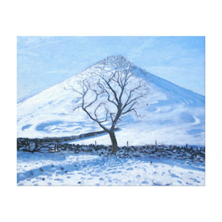 Hill and Tree Derbyshire 2008 Gallery Wrapped Canvas