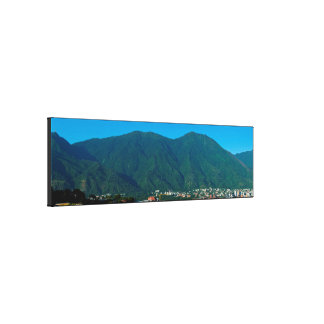 Hill Avila and valley of Caracas Canvas Print