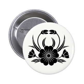 Hill crab cherry tree 6 cm round badge