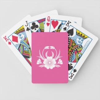 Hill crab cherry tree bicycle playing cards