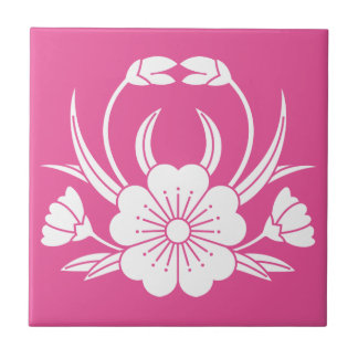 Hill crab cherry tree small square tile