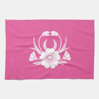 Hill crab cherry tree tea towel