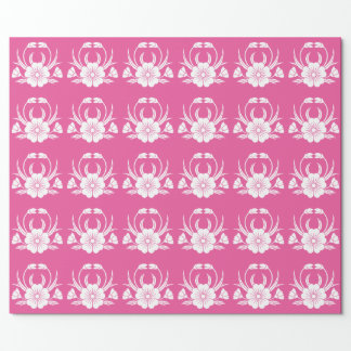 Hill crab cherry tree wrapping paper