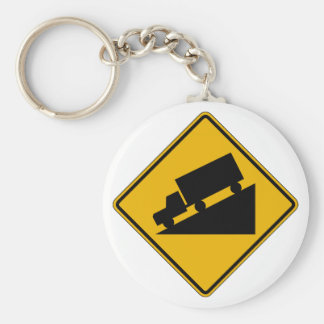Hill (Graphic), Traffic Warning Sign, USA Key Ring