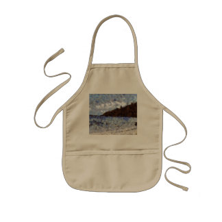 Hill heading to a sea kids apron