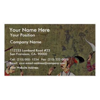 Hill Leaders (Punjab Hills) And Harp Players By In Business Card Template
