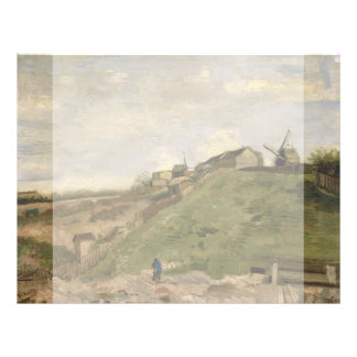 Hill of Montmartre with Stone Quarry by Van Gogh 21.5 Cm X 28 Cm Flyer