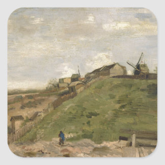 Hill of Montmartre with Stone Quarry by Van Gogh Stickers