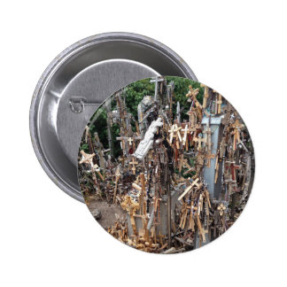 Hill of the Crosses, Lithuania | 6 Cm Round Badge