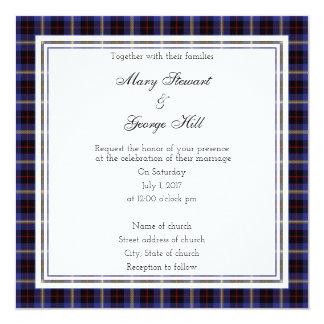 Hill Scottish Wedding Square Invitation