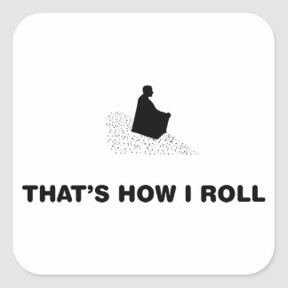 Hill Sliding Square Stickers