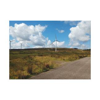 Hill Top Wind Farm Canvas Print