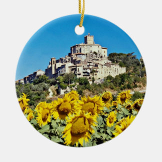 Hill town of Narni, Umbria, Italy  flowers Christmas Ornament