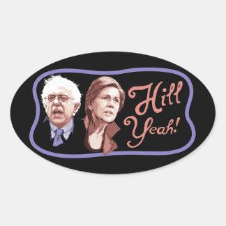 Hill Yeah! Sanders-Warren Oval Sticker