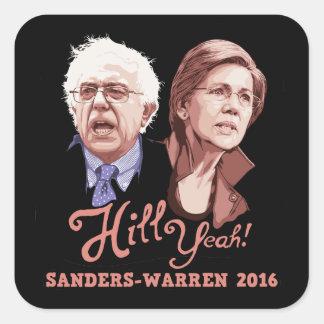 Hill Yeah! Sanders-Warren Square Sticker