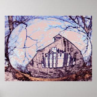 Hillards Barn Print