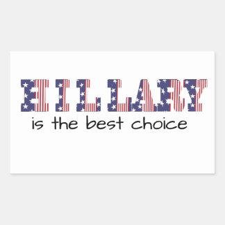 Hillary 16 Is the best choice Rectangular Sticker