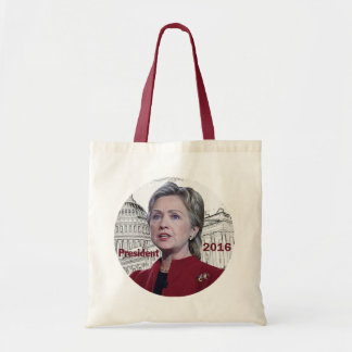 Hillary 2016 budget tote bag