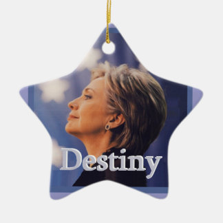 Hillary 2016 ceramic star decoration