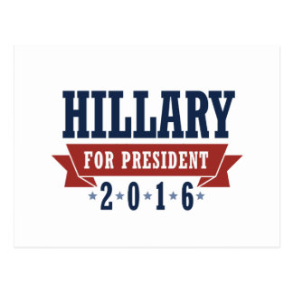 HILLARY 2016 CERTIFIED RIBBON -.png Post Card