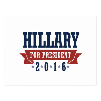 HILLARY 2016 CERTIFIED RIBBON -.png Post Cards