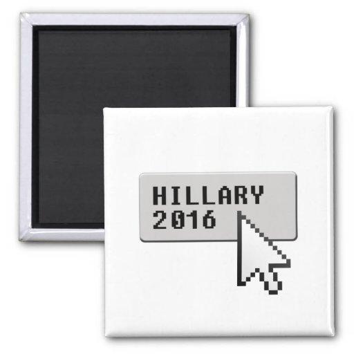 HILLARY 2016 CURSOR CLICK REFRIGERATOR MAGNETS