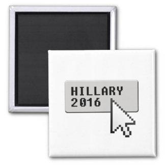 HILLARY 2016 CURSOR CLICK -.png Square Magnet