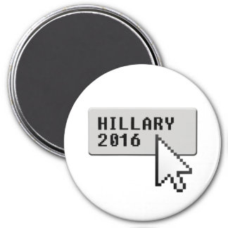 HILLARY 2016 CURSOR CLICK -.png 7.5 Cm Round Magnet