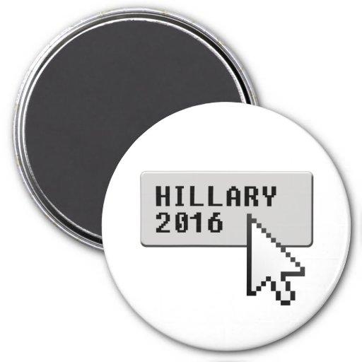 HILLARY 2016 CURSOR CLICK -.png Refrigerator Magnets