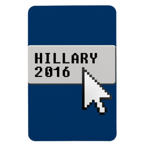 HILLARY 2016 CURSOR CLICK RECTANGULAR MAGNETS