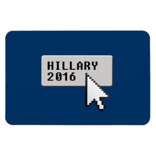HILLARY 2016 CURSOR CLICK RECTANGULAR MAGNET