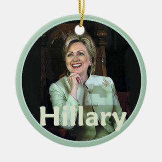 Hillary 2016 round ceramic decoration
