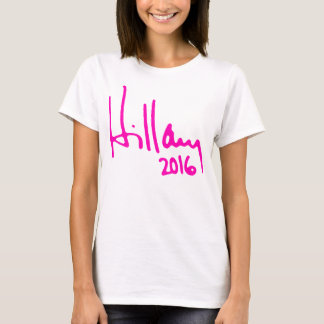 """HILLARY 2016"" (double-sided) T-Shirt"