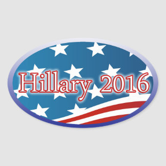 Hillary 2016 - Elect President Clinton! Oval Sticker