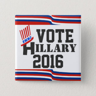 Hillary 2016 Elections Democrat 15 Cm Square Badge