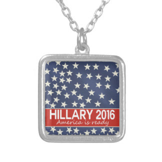 Hillary 2016: I'm ready Square Pendant Necklace