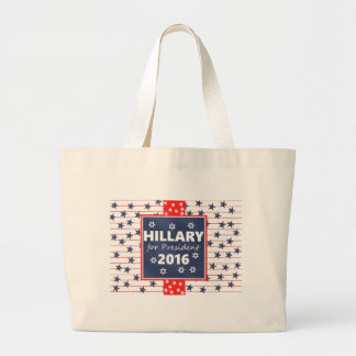 Hillary 2016: I'm ready Jumbo Tote Bag