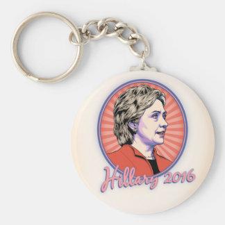 Hillary 2016 -ov basic round button key ring