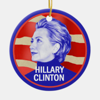 Hillary 2016 round ceramic decoration
