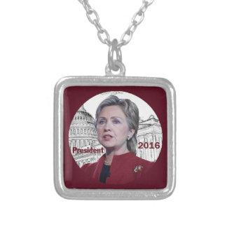 Hillary 2016 square pendant necklace