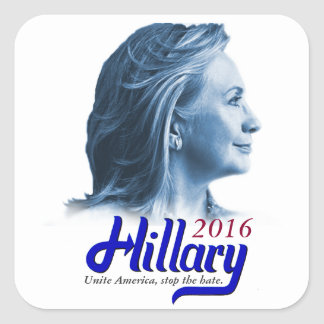 Hillary 2016 squared sticker - Unite America