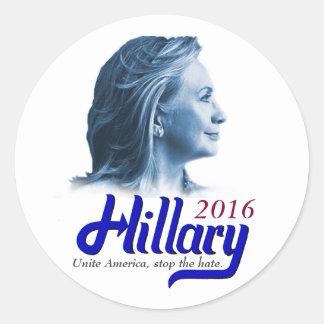 Hillary 2016 sticker - Unite America