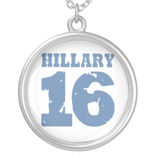 HILLARY 2016 UNIFORM DISTRESSED PERSONALIZED NECKLACE