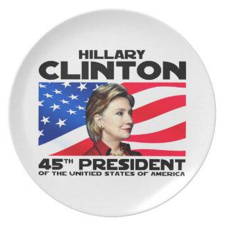 Hillary, 45th President Dinner Plate