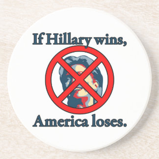 HILLARY AMERICA LOSES DRINK COASTERS